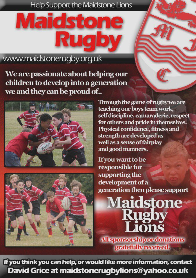 831e7017b3c4 Maidstone's U13s aka the 'Maidstone Lions' raised over £1000 towards their  end of season tour at a fundraising afternoon/ evening on Saturday 2  February at ...